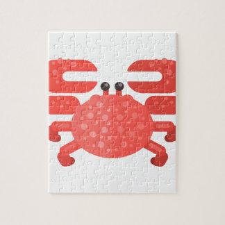 Puzzle Style rose de primitif de crabe