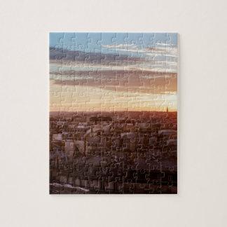 Puzzle Sunset on the Eiffel tower, Paris, France