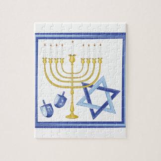 Puzzle Symboles de Hannukah