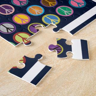 Puzzle Symboles de paix colorés