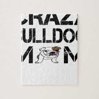 Puzzle T-shirt fou de maman de bouledogue