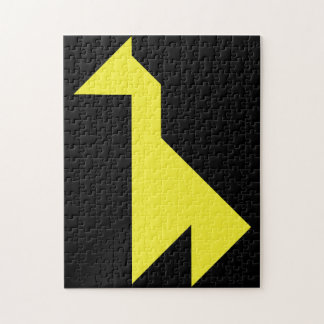 Puzzle Tangram jaune de girafe