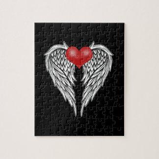 Puzzle Tatouage de coeur d'ange