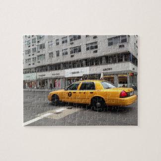Puzzle Taxi NYC de jaune de côté est de stimulant de New