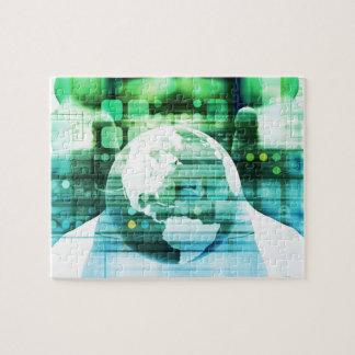 Puzzle Technologie futuriste de la Science comme art de