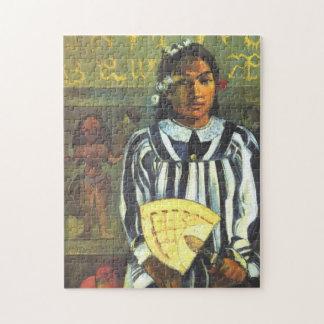 """Puzzle """"Tehamana a beaucoup d'ancêtres"""" - Paul Gauguin"""