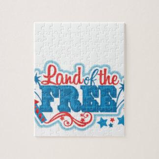 Puzzle Terre des cadeaux américains Libres, liberté