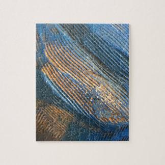 Puzzle Texture bleue lumineuse unique