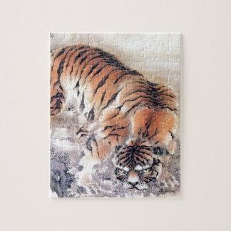 Puzzle Tigre dans la brume