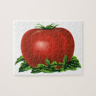 Puzzle Tomate mûre rouge vintage, légumes et fruits
