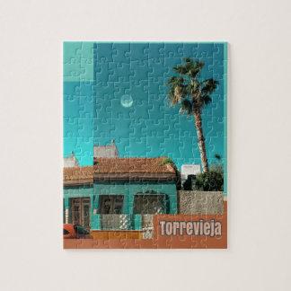Puzzle Torrevieja en orange et turquoise