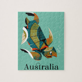 Puzzle Tortue de mer australienne gaie