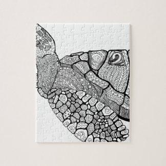 Puzzle Tortue de mer florale