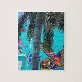 Puzzle Tortue tropicale, paradis de palmier