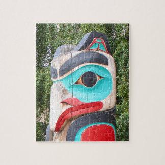 Puzzle Totem Polonais, Anchorage, Alaska 2 de Natif
