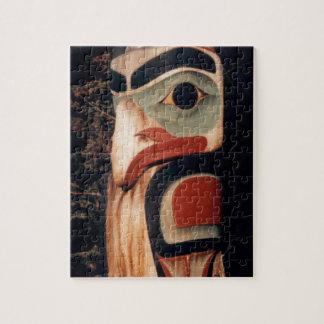 Puzzle Totem Polonais découpé par bois du sud-est de