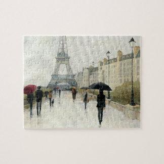 Puzzle Tour Eiffel | Paris sous la pluie