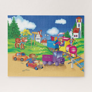 Puzzle train et voiture