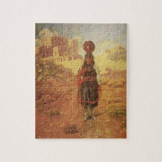 Puzzle Transporteur d'eau indien vintage par EW Rollins