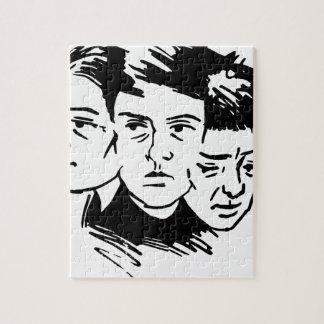 Puzzle trois visages
