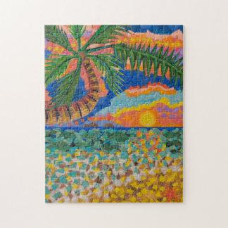 Puzzle tropical de paysage