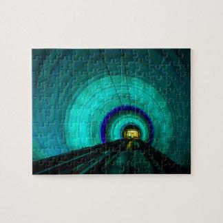 Puzzle Tunnel de chemin de fer bleu, Singapour