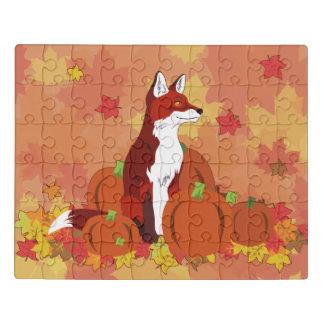 Puzzle Un Fox dans la correction de citrouille