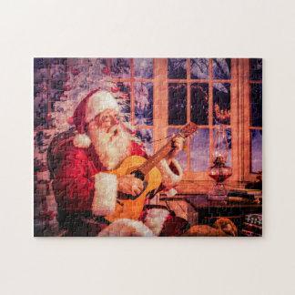 Puzzle Un puzzle, Père Noël chantant une hymne de louange