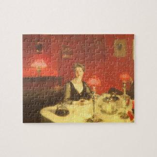 Puzzle Un Tableau de dîner la nuit par Sargent, art