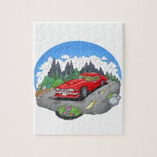 Puzzle Une illustration de bande dessinée d'une voiture