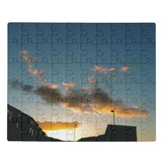 Puzzle Une rue couronnée avec des étoiles