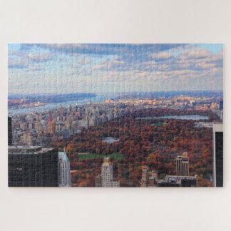 Puzzle Une vue d'en haut : Automne dans le Central Park