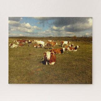 Puzzle Vaches faisant une pause