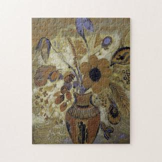 Puzzle Vase à Etruscan avec des fleurs