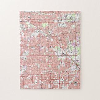 Puzzle Verger vintage CA Map d'Anaheim et de jardin