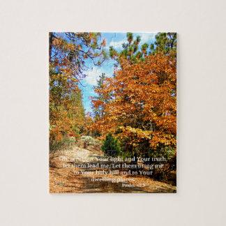 Puzzle Vers chrétien de bible d'écriture sainte d'automne