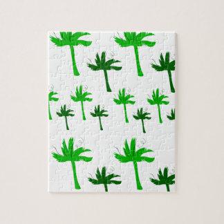 Puzzle Vert blanc de paumes de conception