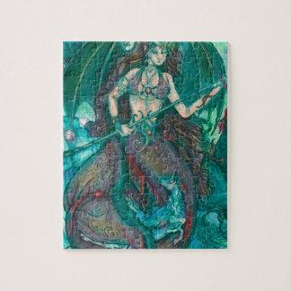 Puzzle Vert de Teal de mer d'océan de licorne de sirène