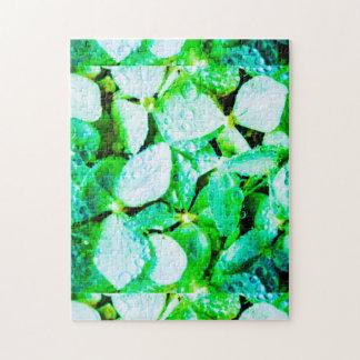 Puzzle vert d'hortensia