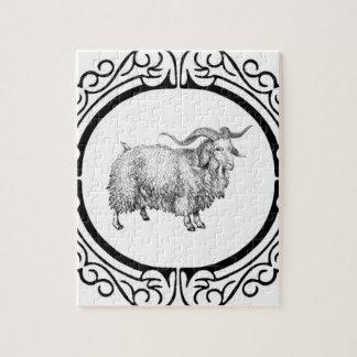 Puzzle vieil affichage de moutons