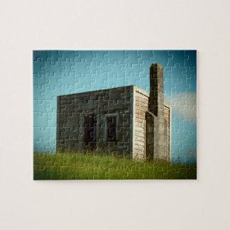 Puzzle vieil aotearoa Nouvelle Zélande de cabane de hutte
