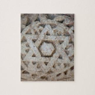 Puzzle Vieille étoile de David découpant, Israël