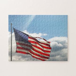 Puzzle Vieille gloire ou le drapeau américain de bannière