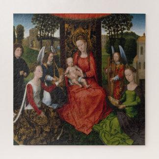 Puzzle Vierge et enfant avec des saints Catherine de