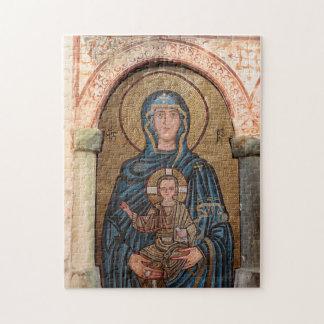 Puzzle Vierge Marie et mosaïque de Jésus