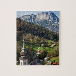 Puzzle Village bavarois étrange, Allemagne