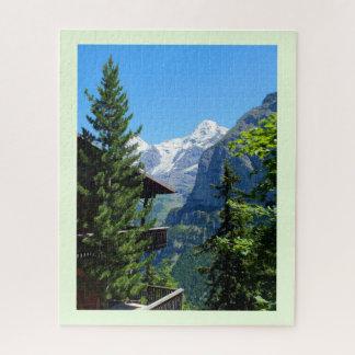 Puzzle Village de Murren en Suisse