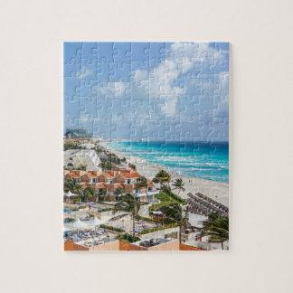 Puzzle Ville de Cancun sur près de la plage