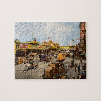 Puzzle Ville - NY - il y a cent quelques années 1900