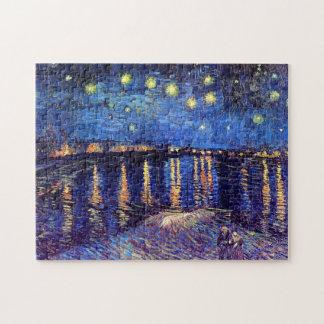 Puzzle Vincent van Gogh - nuit étoilée au-dessus du Rhône